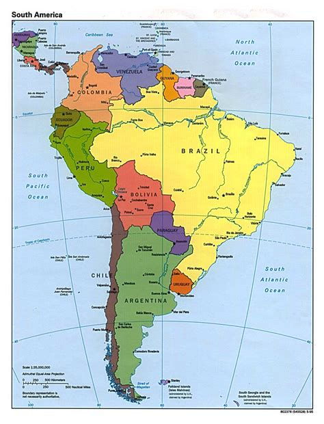 south america map in maps of south america and south american countries