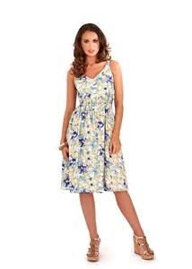 summer dresses uk womens dress v neck floral summer dress mid length sundress size uk 8 16 ebay