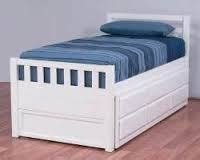 Single Bed With Trundle And Drawers by Trundle King Single Bed White Or Walnut With Drawers New