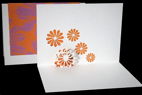 Origami Flower Pop Up Card - flowers origami architecture pop up cards by live your