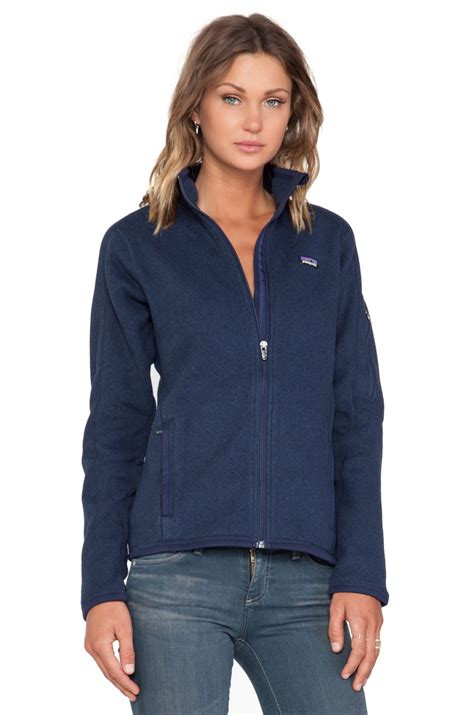 Snk 4 Navy Sweaterwa Snk 05 patagonia better sweater jacket in blue lyst
