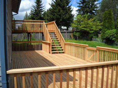 two level backyard 25 best ideas about two level deck on pinterest tiered