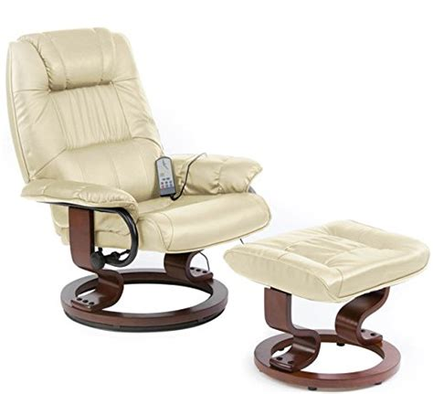 best cream leather recliner massage chairs amp footstools