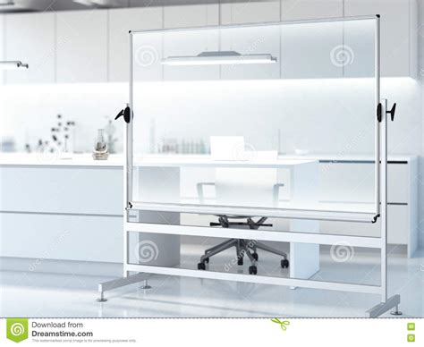 modern whiteboard transparent whiteboard in modern clean laboratory 3d