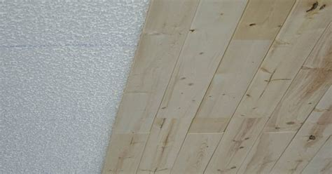 Lightweight Ceiling Planks How To Plank A Popcorn Ceiling With Lightweight Tongue And