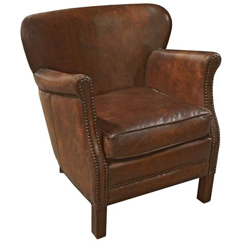 rustic leather armchair dickson rustic lodge vintage brown leather wood armchair