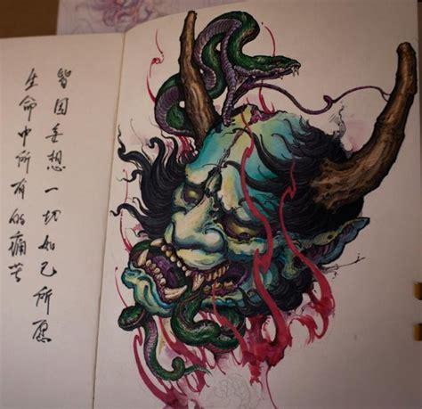 japanese hannya tattoo designs 25 best ideas about hannya mask on oni