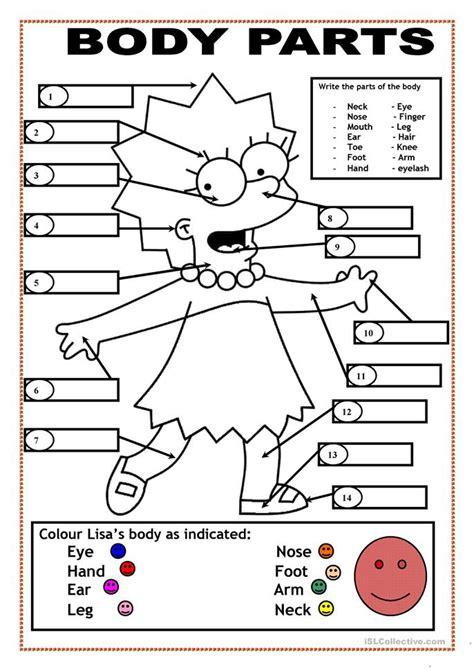 printable coloring pages esl free printable worksheets parts 12 free esl animal