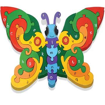 Puzzle Alphabet Butterfly alphabet butterfly wooden jigsaw puzzle is educational and for kidsfamily shop