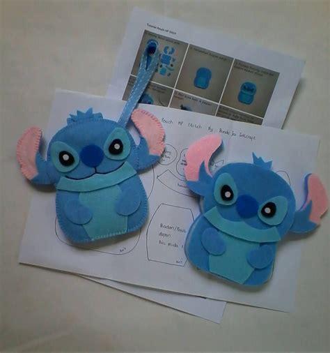 stitches manualidades diy kit stitch felt mobile pouch fundas para celular