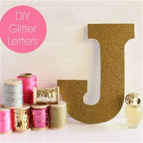 diy girly room decor glitter letters for the girly s decor room