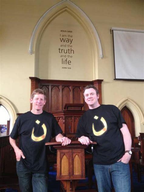 spray painter warrnambool presbyterian pastors show solidarity for christian is