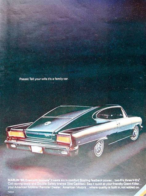 1966 rambler car 1966 ad vintage amc rambler marlin 2 door fastback sporty