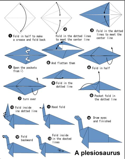 Loch Ness Origami - origami plesiosaurus or loch ness paper parade