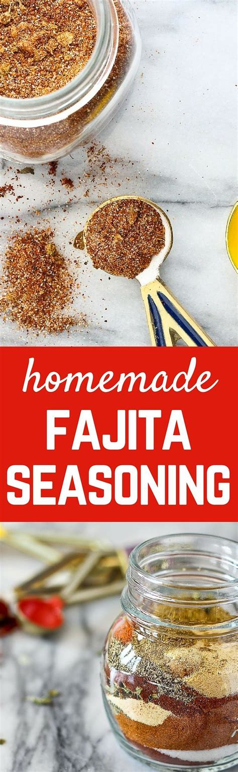 25 best ideas about homemade fajita seasoning on