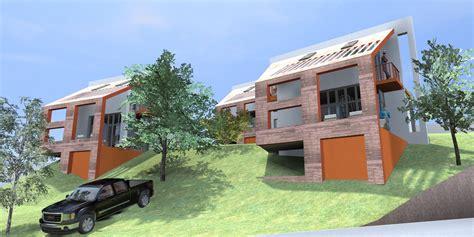 wonderful disenos de casas en terrenos inclinados