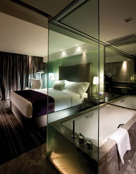 bathroom in bedroom ideas 33 cool hotel style bedroom design ideas digsdigs