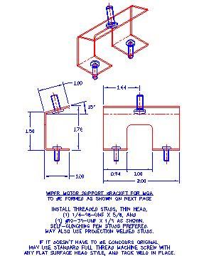 Bracket Alfa Metal Usa i need a wiper motor bracket for an mga mga forum mg