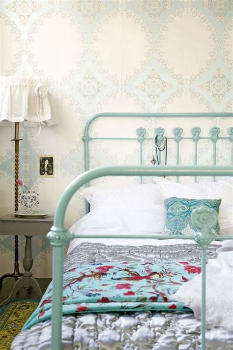 turquoise bed frame painted iron bed teal pinterest turquoise frames