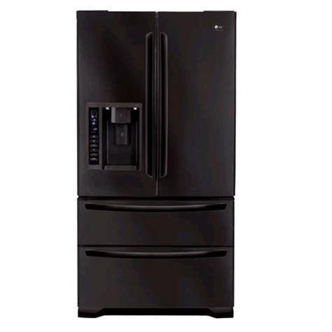 Black Door Refrigerator by Lg 25 Cubic Foot Black Door Refrigerator
