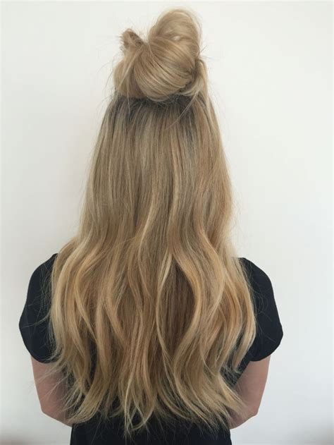 Weave For Top Knot | top knot extensions hair extensions hairstylist