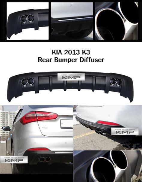 Kia Forte Bumper Price Dual Muffler Rear Bumper Diffuser Matt Black For Kia