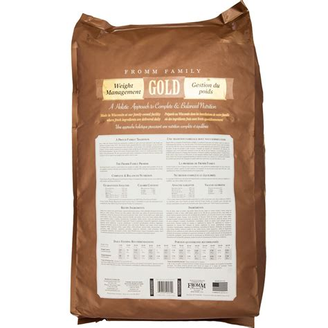 fromm gold food fromm gold food weight management 33 lb healthypets