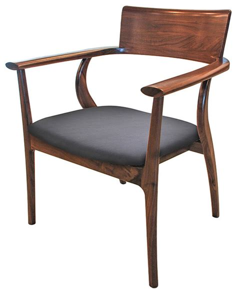 mid century modern dining furniture alfie mid century modern walnut black leather dining arm chair transitional dining chairs