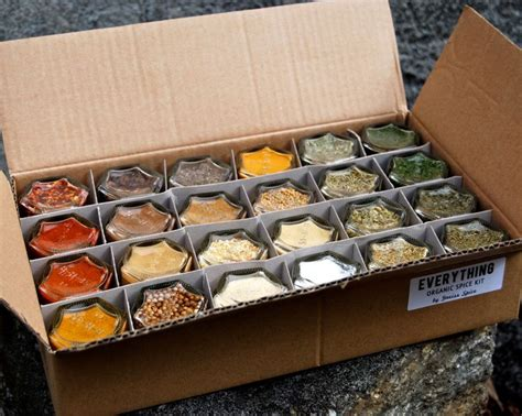 Organic Spice Rack by Pantry Magnetic Spice Rack Sted Glass Jars Filled