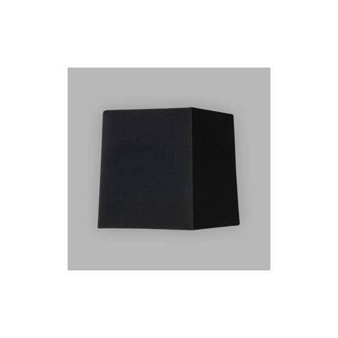 square lshade astro lighting lambro 4029 black fabric tapered square