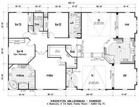 triple wide mobile home floor plans mobile home floor