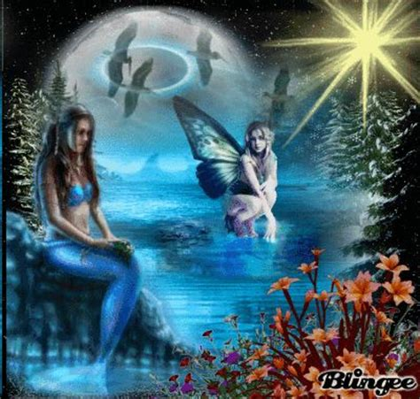 mermaid fairy fairy and mermaid sts this blingee was created with