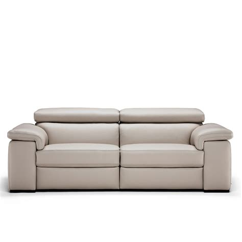 natuzzi editions moretta large silver grey leather power