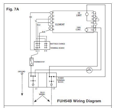 wall heater wiring i need a wall mount thermostat to use with a fahrenheat
