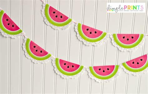 printable paper garland printable watermelon doily garland hello summer i