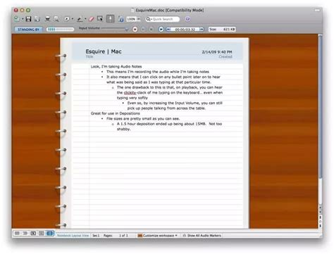 notebook layout word pc what notebook app for mac with audio recording support