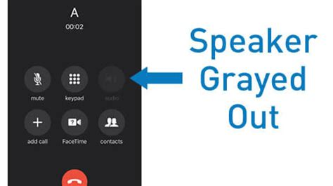iphone  speaker grayed   microphone  working solution