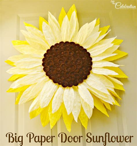 How To Make Sunflower Paper Flowers - big paper twist door flower take two sunflower