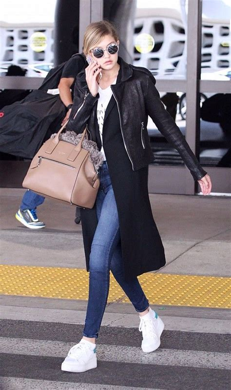 Always In Fashion Luxurious Leather Bglam by 8 Things Models Always Wear To The Airport Models