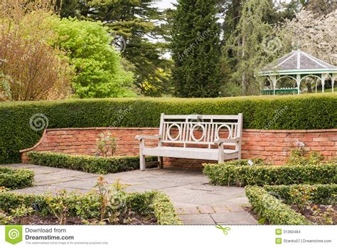 bench scene park bench stock images image 31360484