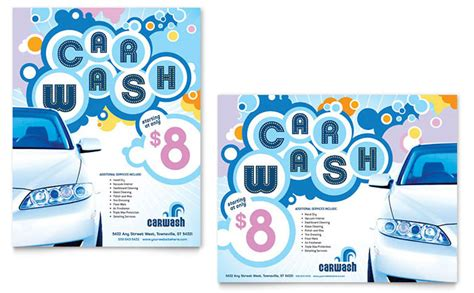 car wash poster template free car wash poster template design