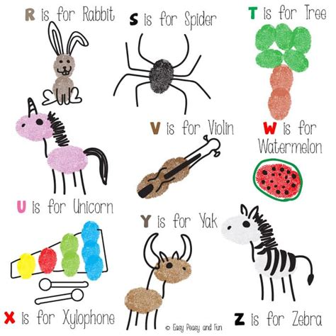 Thumb Print Cards Craft By Free Template by Fingerprint Alphabet Easy Peasy And