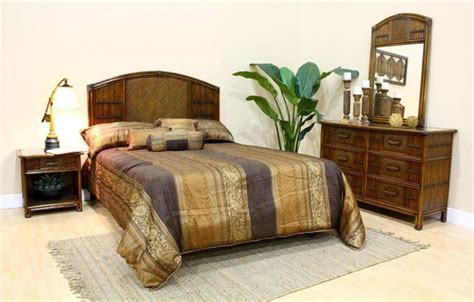 hawaiian bedroom furniture polynesian 4 pc bedroom set in antique f tropical