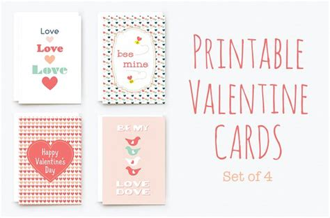 valentines day card templates for word printable cards card templates on creative market