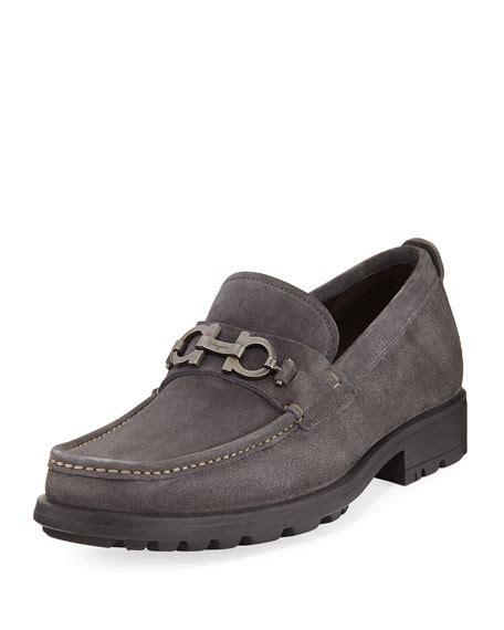 lug sole loafer salvatore ferragamo suede lug sole loafer