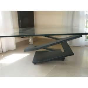 table verre roche bobois