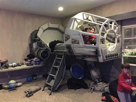 at at bed creative dad makes his son an epic star wars millennium