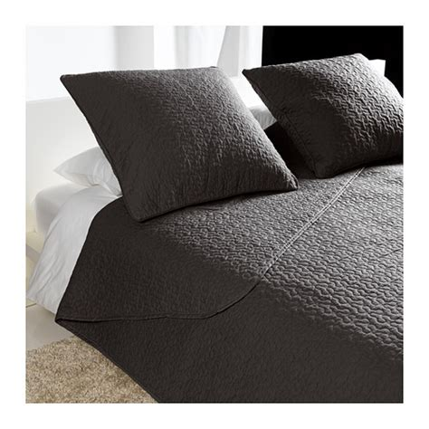 charcoal gray coverlet alina bedspread and 2 cushion covers queen king ikea