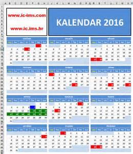Kalendar 2018 So Praznici Kalendar 2016 S Državnim Praznicima Blagdanima I Neradnim