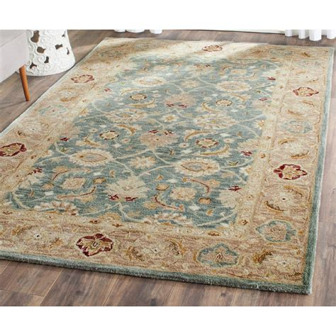 Teal Blue Area Rugs Safavieh Antiquity Teal Blue Taupe 5 Ft X 8 Ft Area Rug At849b 5 The Home Depot